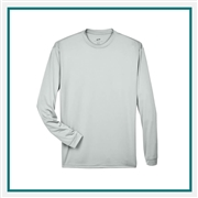 UltraClub Adult Cool & Dry Sport Long-Sleeve T-Shirt Custom Embroidery