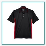 UltraClub Men's Cool & Dry Sport Two-Tone Polo with Custom Embroidery, Harriton 8406 Custom Embroidered, Harriton Corporate Apparel