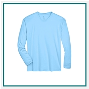 UltraClub Men's Cool & Dry Sport Long-Sleeve Performance Interlock T-Shirt Custom Embroidery