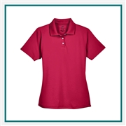 UltraClub Ladies' Cool & Dry Stain-Release Performance Polo with Custom Embroidery, Harriton 8445L Custom Embroidered, Harriton Corporate Apparel