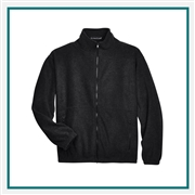 UltraClub Men's Iceberg Fleece Full-Zip Jacket Custom Embroidery