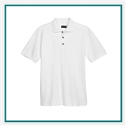 UltraClub Men's Tall Cool & Dry Classic Piqué Polo with Custom Embroidery, Harriton 8535T Custom Embroidered, Harriton Corporate Apparel