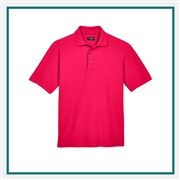 UltraClub Men's Tall Cool & Dry Whisper Piqué Polo with Custom Embroidery, Harriton 8540T Custom Embroidered, Harriton Corporate Apparel
