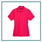 UltraClub Ladies' Whisper Piqué Polo with Custom Embroidery, Harriton 8541 Custom Embroidered, Harriton Corporate Apparel