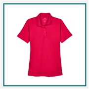 UltraClub Ladies' Cool & Dry 8 Star Elite Performance Interlock Polo with Custom Embroidery, Harriton 8610L Custom Embroidered, Harriton Corporate Apparel