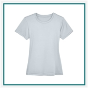 UltraClub Ladies' Cool & Dry Basic Performance Interlock T-Shirt with Custom Embroidery, Harriton 8620L Custom Embroidered, Harriton Corporate Apparel