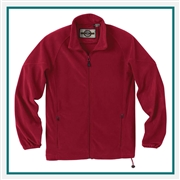 North End Mens Microfleece Unlined Jacket with Custom Embroidery