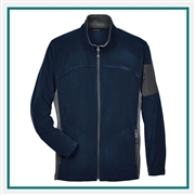 North End Mens Full-Zip Microfleece Jacket with Custom Embroidery, Jacket Custom Embroidered, North End with Corporate Logo, North End Custom Logo Jackets, Customized Jackets