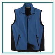 North End Mens Three-Layer Light Bonded Performance Soft Shell Vest with Custom Embroidery