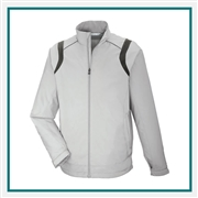 North End Mens Venture Lightweight Mini Ottoman Jacket with Custom Embroidery