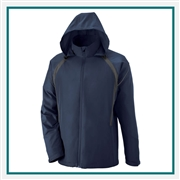 North End Mens Sirius Lightweight Jacket with Embossed Print Custom Embroidery