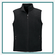 North End Mens Voyage Fleece Vest with Custom Embroidery