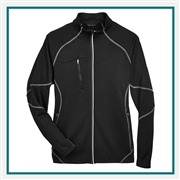 North End Mens Gravity Performance Fleece Jacket with Custom Embroidery