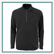 North End Mens Radar Half-Zip Performance Long-Sleeve Top with Custom Embroidery, Top Custom Embroidered, North End with Corporate Logo, North End Custom Logo Long-Sleeves, Customized Long-Sleeves