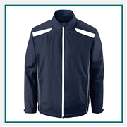 North End Mens Tempo Lightweight Recycled Polyester Jacket with Embossed Print with Custom Embroidery