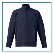 North End Mens Generate Textured Fleece Jacket with Custom Embroidery