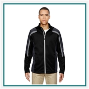 North End Mens Strike Color-block Fleece Jacket with Custom Embroidery