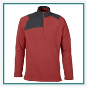 North End Mens Excursion Trail Fabric-Block Fleece Half-Zip Pullover, Pullover Custom Embroidered