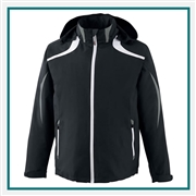 North End Sport Red Mens Impact Active Lite Color-Block Jacket with Custom Embroidery