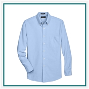 UltraClub Men's Classic Wrinkle-Resistant Long-Sleeve Oxford Custom Embroidery