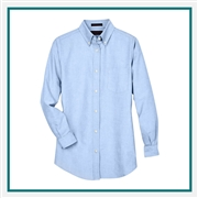 UltraClub Ladies' Classic Wrinkle-Resistant Long-Sleeve Oxford Custom Embroidery
