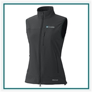 Marmot Women's Tempo Full Zip Vest 98220 with Custom Embroidery, Marmot Custom Soft Shell Vests, Marmot Custom Logo Gear