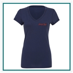 Bella + Canvas Ladies' Jersey Short-Sleeve V-Neck T-Shirt B6005 Custom Logo, Custom Logo Bella + Canvas T-Shirts, Bella B6005