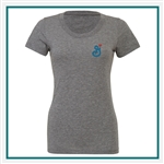 Bella + Canvas Ladies Triblend Short-Sleeve B8413 - Embroidered, Custom Embroidered Bella T shirts, Custom Logo T Shirts