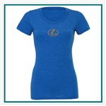 Bella + Canvas Ladies Triblend Short-Sleeve T-Shirt B8413 Custom Logo, Custom Logo Bella + Canvas T-Shirts, Bella B8413
