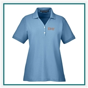 Devon & Jones Women's Pima Piqué Short-Sleeve Polo with Custom Embroidery, Devon & Jones D100 Custom Embroidered, Devon & Jones Corporate Apparel