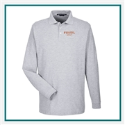 Devon & Jones Men's Pima Piqué Long-Sleeve Polo with Custom Embroidery, Devon & Jones D110 Custom Embroidered, Devon & Jones Corporate Apparel
