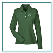 Devon & Jones Ladies Pima Piqué Long-Sleeve Polo with Custom Embroidery, Devon & Jones D110W Custom Embroidered, Devon & Jones Corporate Apparel