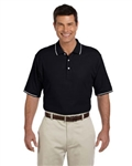 Devon & Jones Men's Pima Piqué Short-Sleeve Tipped Polo with Custom Embroidery, Devon & Jones D113 Custom Embroidered, Devon & Jones Corporate Apparel
