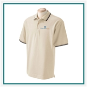 Devon & Jones Men's Tipped Perfect Pima Interlock Polo with Custom Embroidery, Devon & Jones D140 Custom Embroidered, Devon & Jones Corporate Apparel
