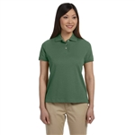 Devon & Jones Ladies Solid Perfect Pima Interlock Polo with Custom Embroidery, Devon & Jones D140SW Custom Embroidered, Devon & Jones Corporate Apparel