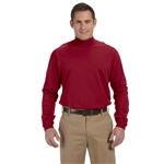 Devon & Jones Men's Adult Sueded Cotton Jersey Mock Turtleneck with Custom Embroidery