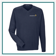 Devon & Jones Men's V-Neck Sweater with Custom Embroidery