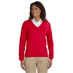 Devon & Jones Ladies V-Neck Sweater with Custom Embroidery