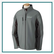Devon & Jones Men's Soft Shell Colorblock Jacket with Custom Embroidery, Devon & Jones D997 Custom Embroidered, Devon & Jones Corporate Apparel