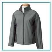 Devon & Jones Ladies Soft Shell Colorblock Jacket with Custom Embroidery, Devon & Jones D997W Custom Embroidered, Devon & Jones Corporate Apparel