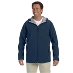 Devon & Jones Men's Soft Shell Hooded Jacket with Custom Embroidery, Devon & Jones D998 Custom Embroidered, Devon & Jones Corporate Apparel