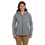 Devon & Jones Ladies Soft Shell Hooded Jacket with Custom Embroidery, Devon & Jones D998W Custom Embroidered, Devon & Jones Corporate Apparel