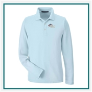 Devon & Jones Men's DRYTEC20 Performance Long-Sleeve Polo with Custom Embroidery, Devon & Jones DG170 Custom Embroidered, Devon & Jones Corporate Apparel