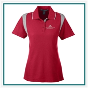 Devon & Jones Ladies DRYTEC20 Performance Colorblock Polo with Custom Embroidery, Devon & Jones DG180W Custom Embroidered, Devon & Jones Corporate Apparel