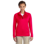 Devon & Jones Ladies Stretch Tech-Shell Compass Quarter Zip Pullover with Custom Embroidery, Devon & Jones DG440W Custom Embroidered, Devon & Jones Corporate Apparel