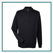 Devon & Jones Men's Manchester Fully-Fashioned Quarter-zip Sweater with Custom Embroidery, Devon & Jones DG478 Custom Embroidered, Devon & Jones Corporate Apparel