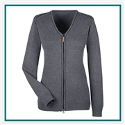 Devon & Jones Ladies Manchester Fully-Fashioned Quarter-zip Sweater with Custom Embroidery, Devon & Jones DG478W Custom Embroidered, Devon & Jones Corporate Apparel