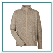 Devon & Jones Men's Bristol Full-Zip Sweater Fleece Jacket with Custom Embroidery, Devon & Jones DG793 Custom Embroidered, Devon & Jones Corporate Apparel