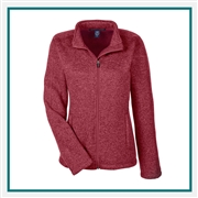 Devon & Jones Ladies Bristol Full-Zip Sweater Fleece Jacket with Custom Embroidery, Devon & Jones DG793W Custom Embroidered, Devon & Jones Corporate Apparel