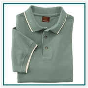 Harriton Men's 6 oz. Short-Sleeve Piqué Polo with Tipping with Custom Embroidery, Harriton M210 Prime Custom Embroidered, Harriton Corporate Apparel